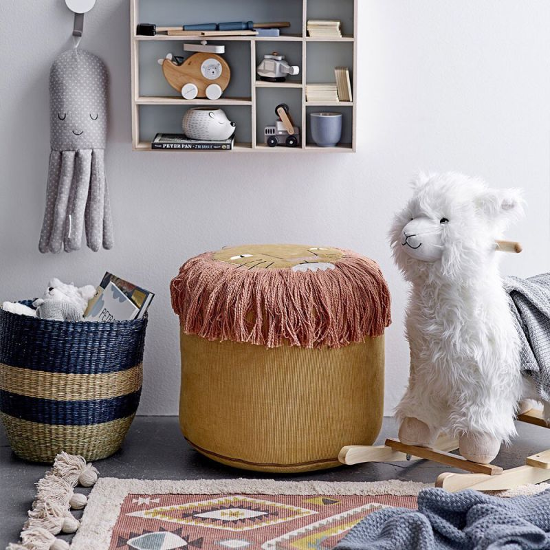 Lama de baloiço, poliéster/madeira, branco