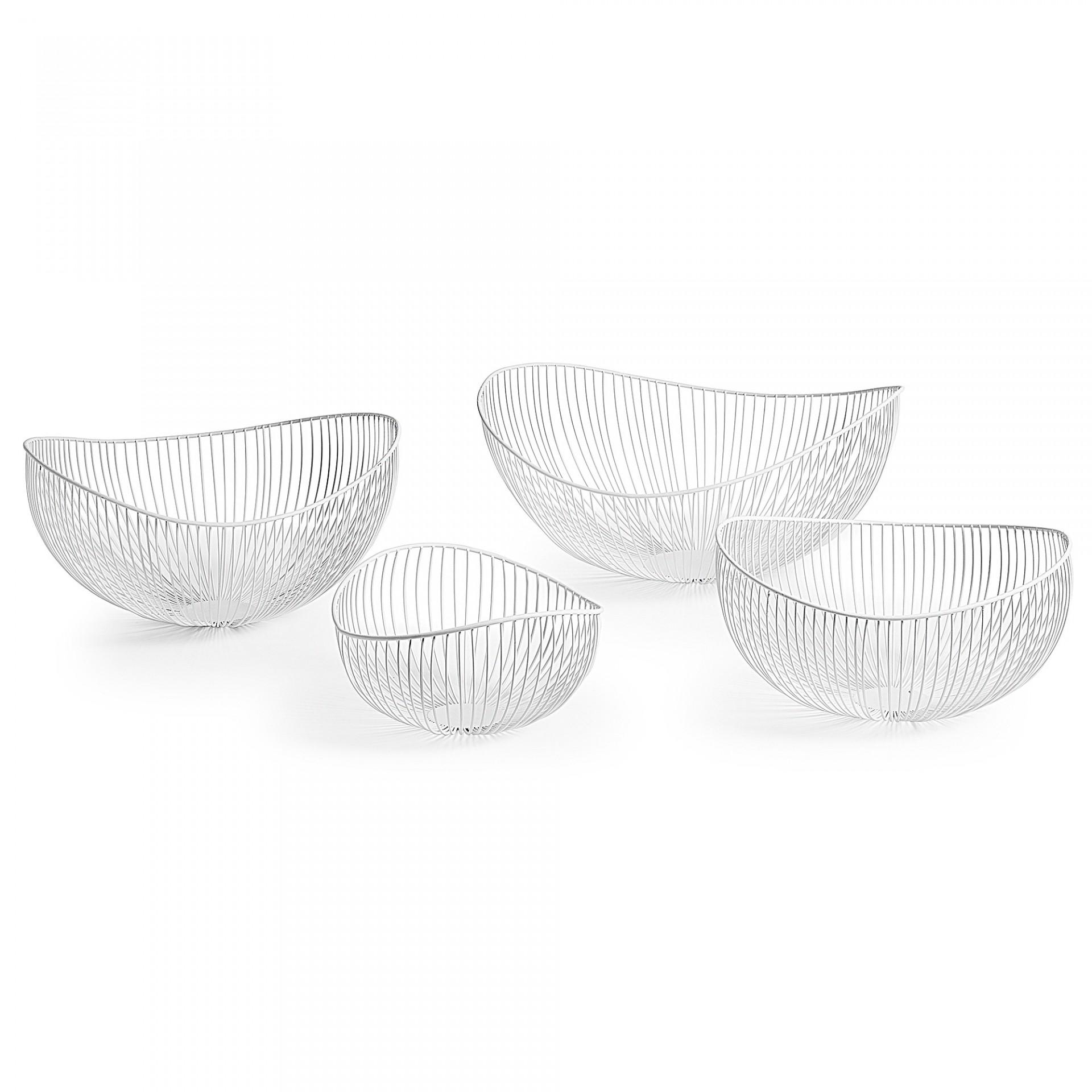 Centros de mesa, metal, branco, (Conj.4)