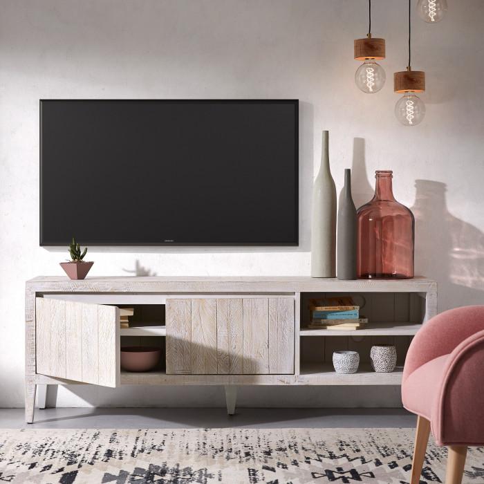 Móvel TV Works, madeira de pinho, 160x55