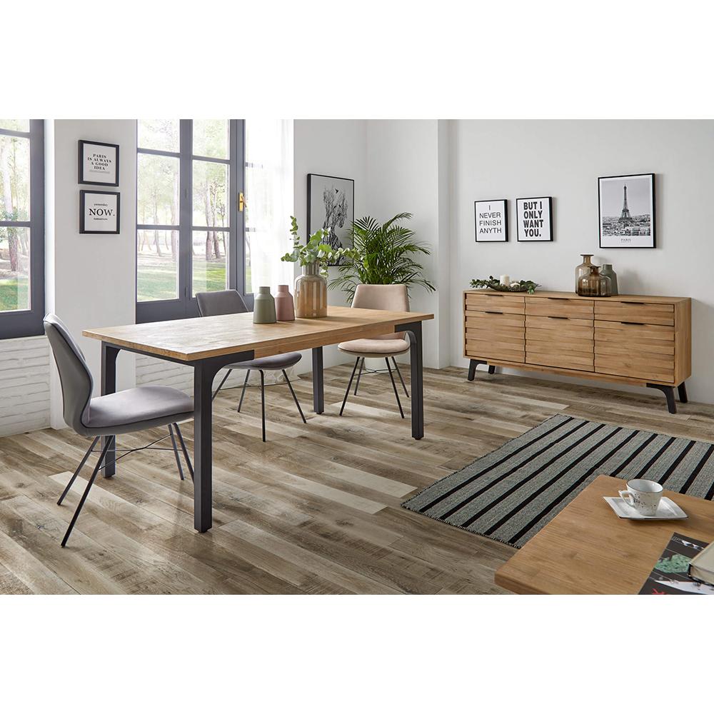 Mesa de jantar Amsterdam, madeira de acácia, 160x90