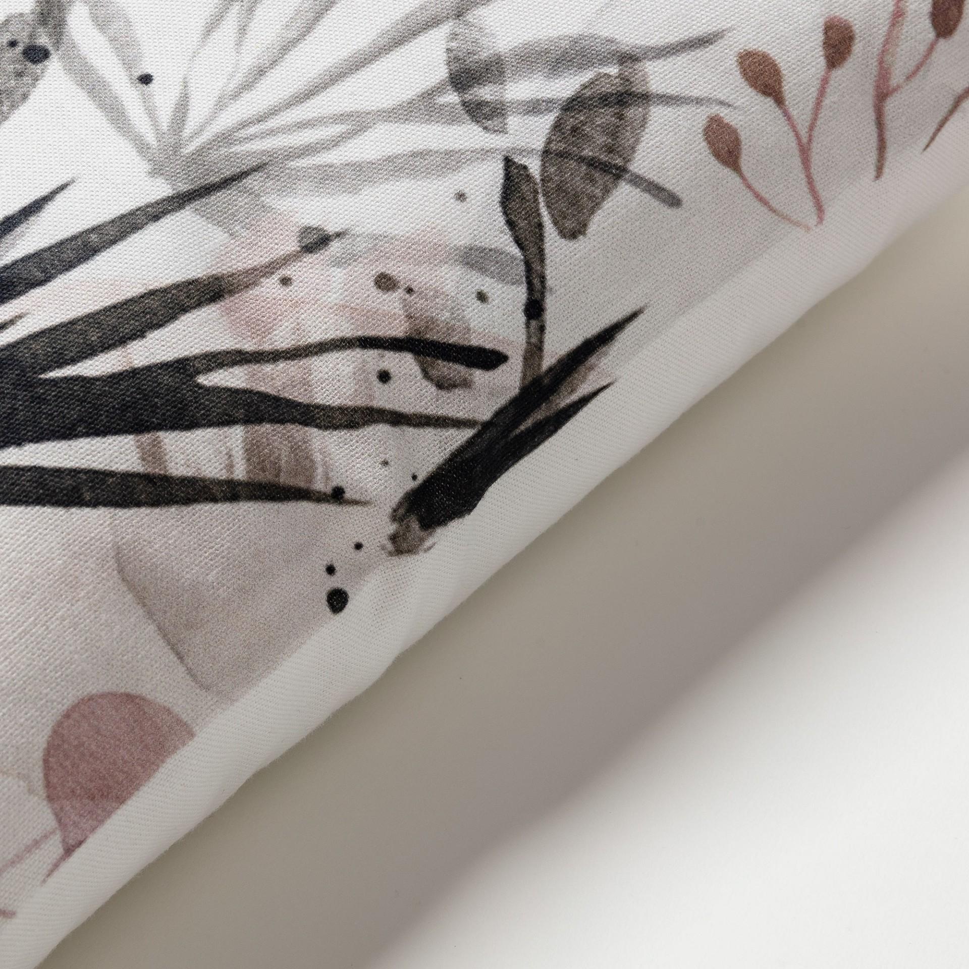Capa de almofada Korty, branco/preto/rosa, 45x45