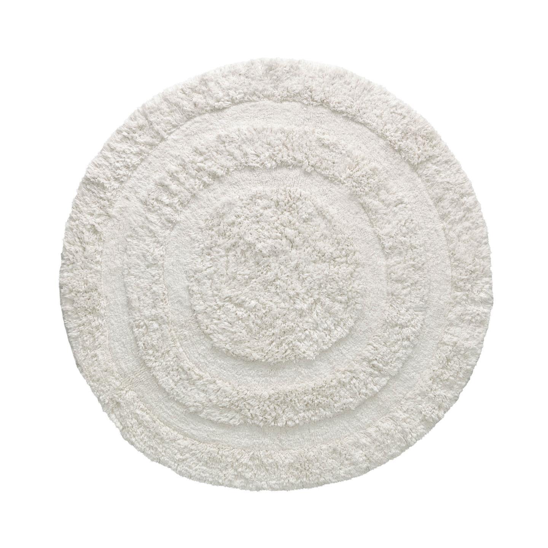Tapete Ligia, algodão, branco, Ø120
