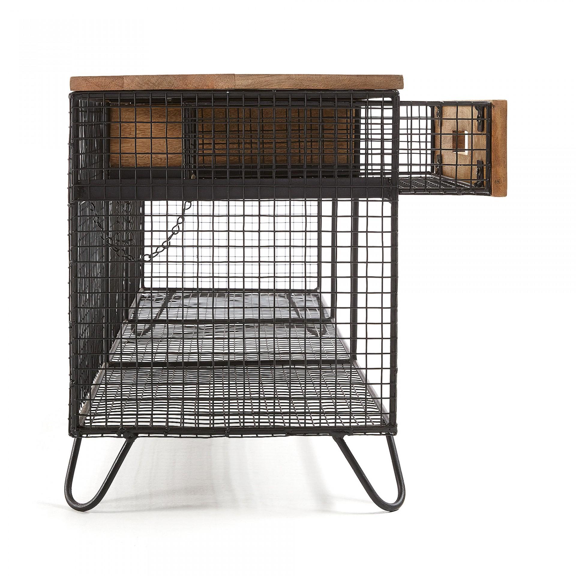 Móvel TV Ayda, madeira de manga/metal, 120x46