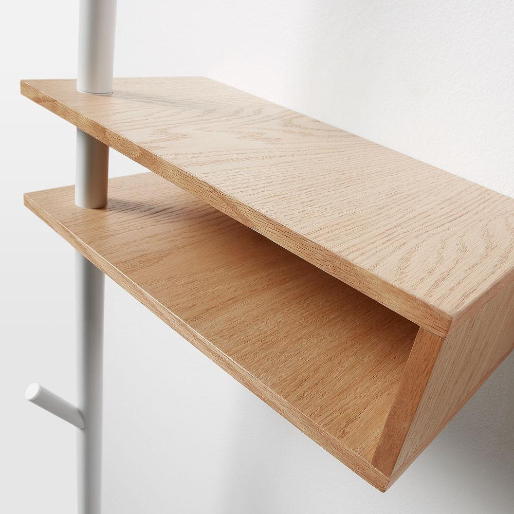Cabide Ben, c/estante, madeira/metal, 40x175