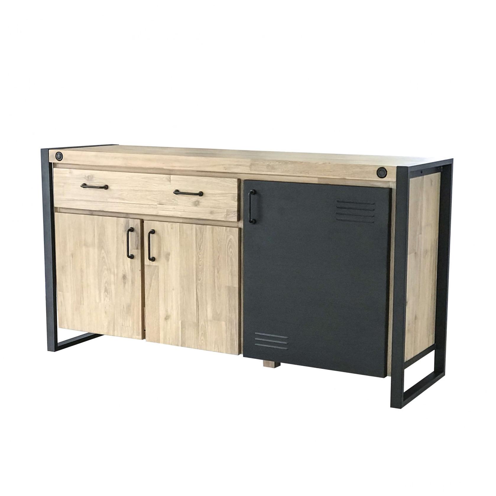 Aparador Boston, madeira de acácia/metal, 150x75