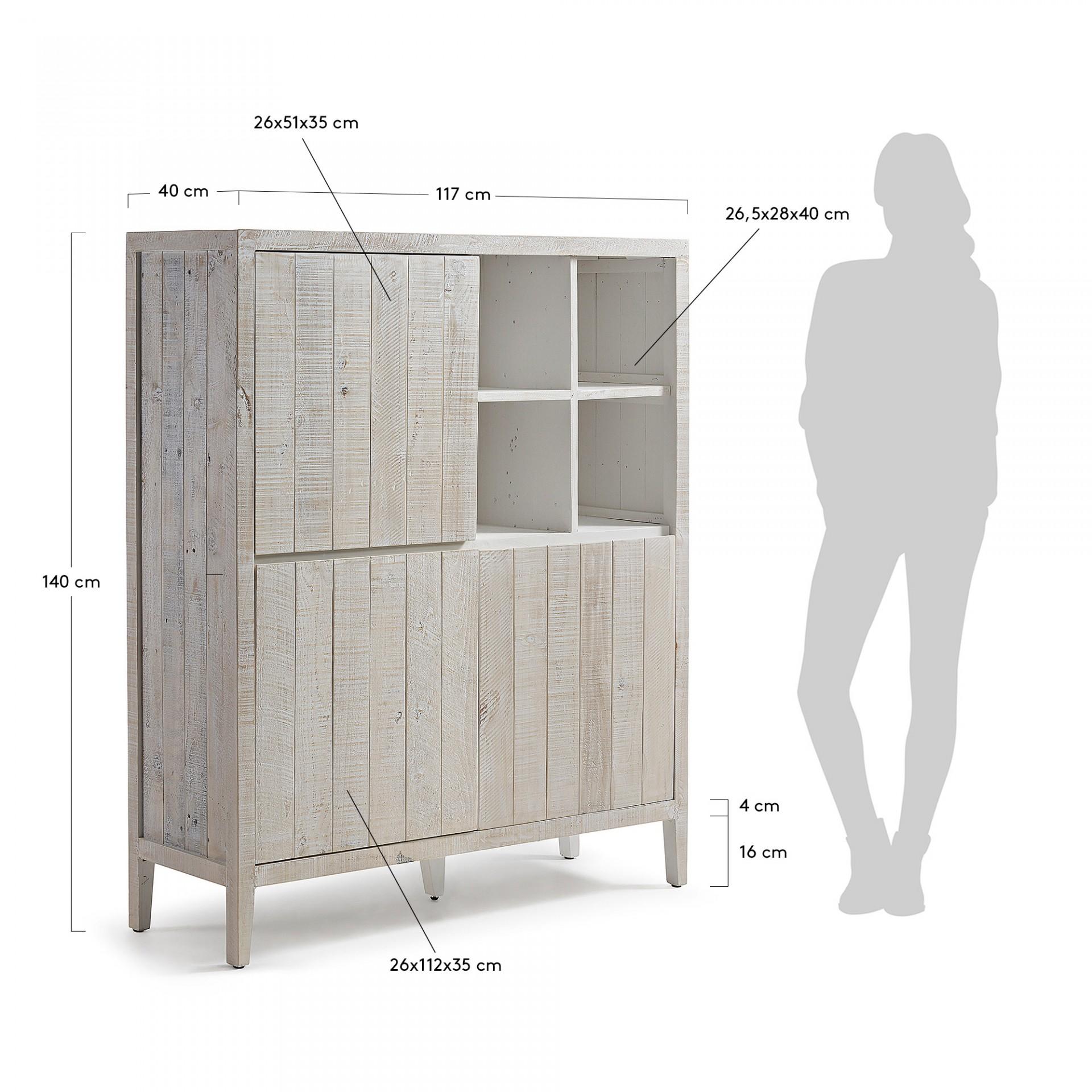 Aparador Works, madeira de pinho, 117x140