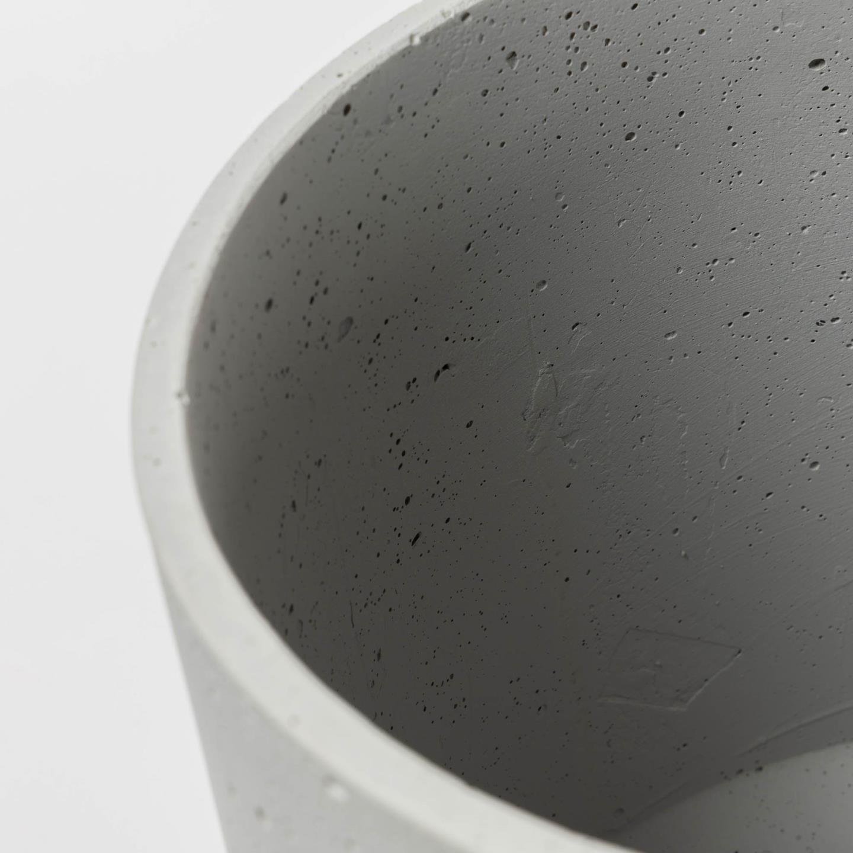 Vasos Kanti, cimento, branco, (Conj.2)
