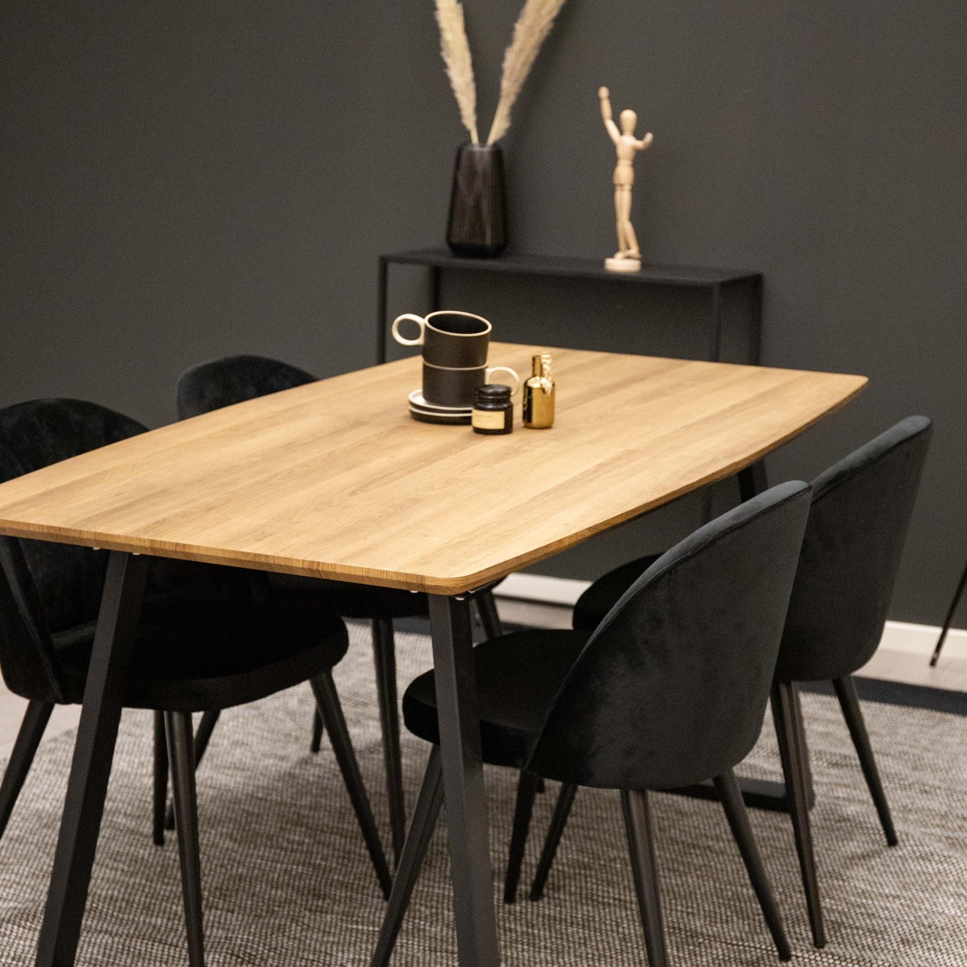 Mesa de jantar Inca, extensível, madeira carvalho, 160(200)x85