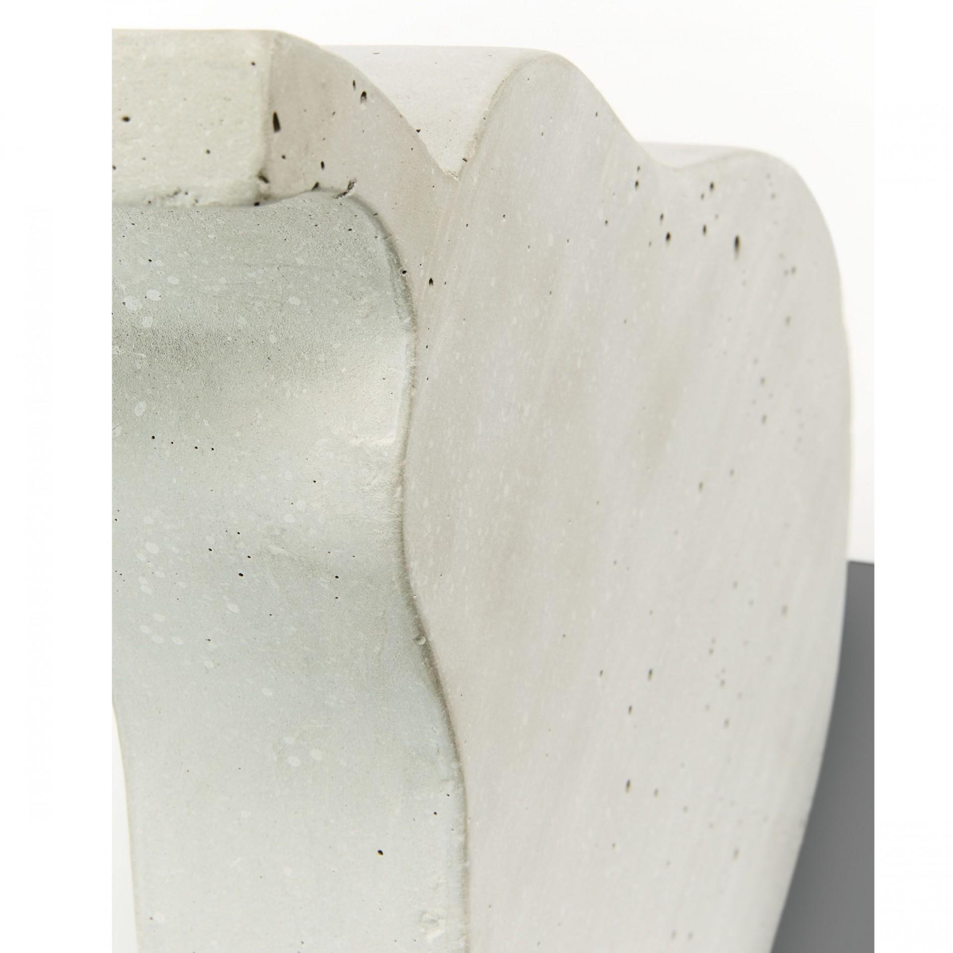 Pera decorativa, concreto, branco, 30x20