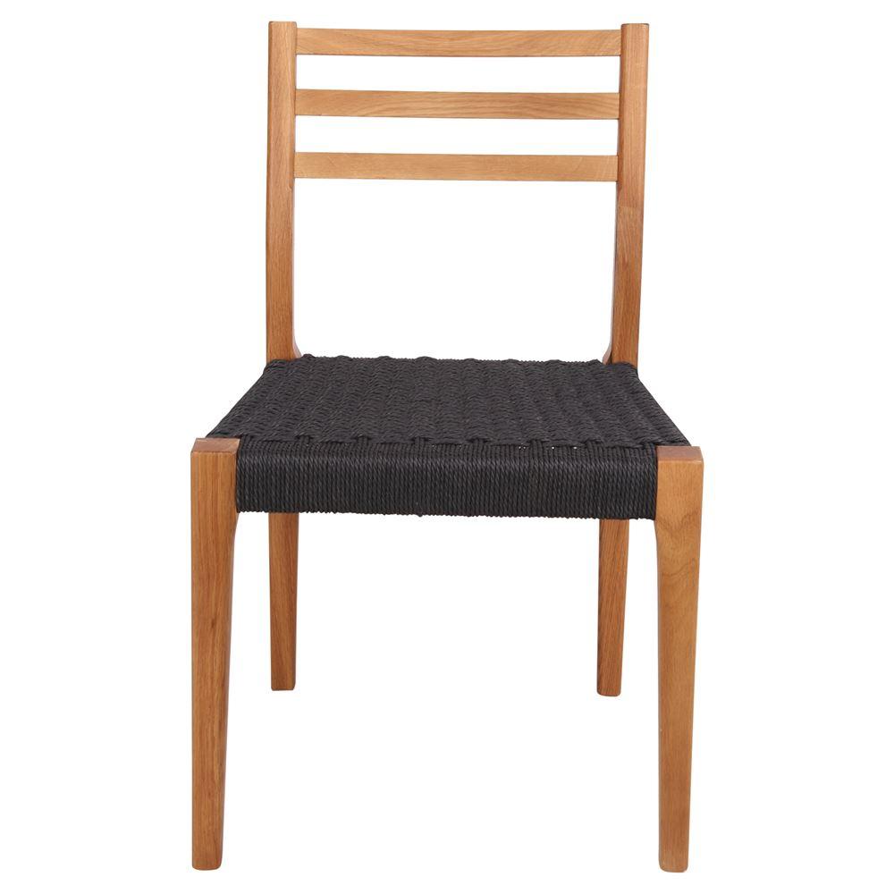 Cadeira Ellen, madeira de carvalho, preto