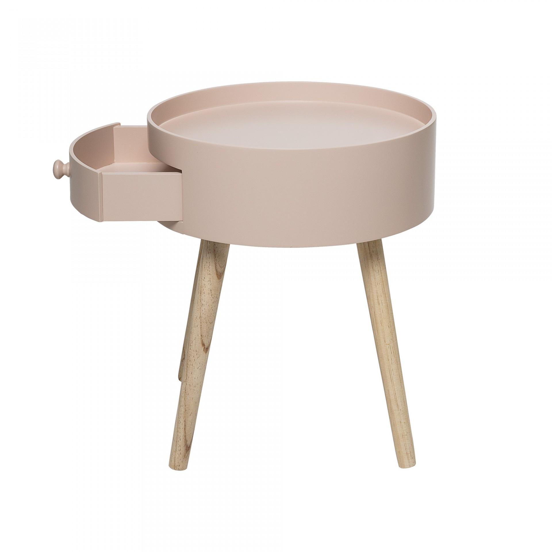 Mesa de apoio Rose, madeira de pinho/MDF lacado, Ø38x45