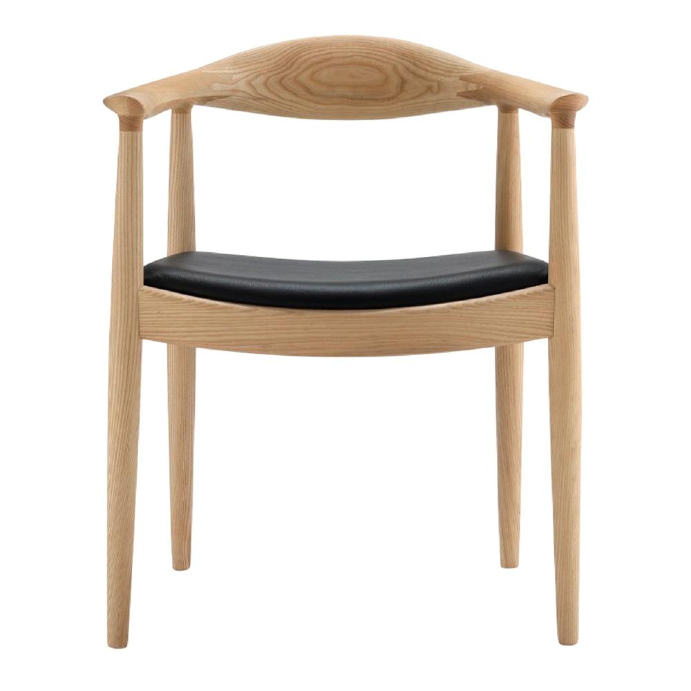 Cadeira Bush, madeira de freixo/couro sintético