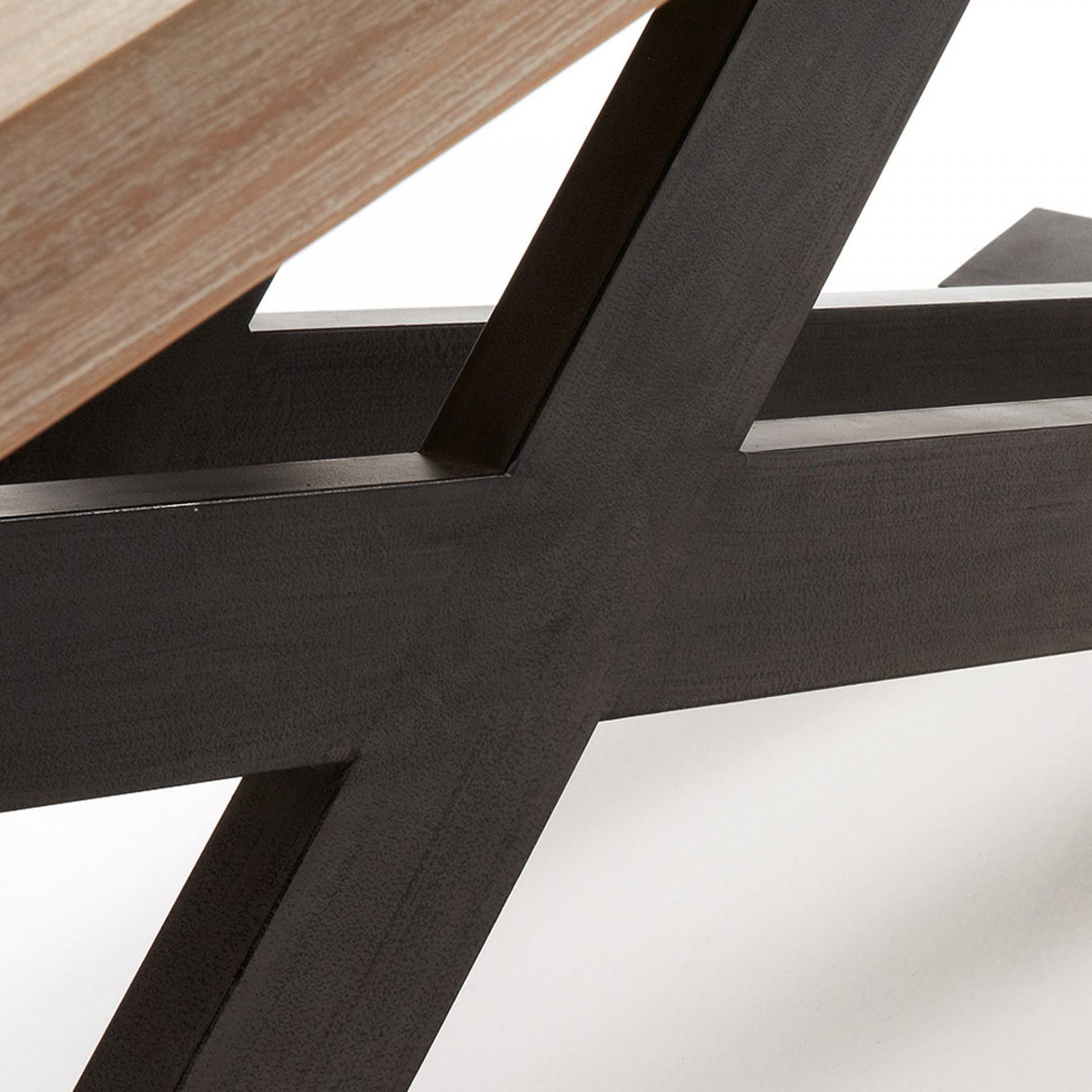 Mesa de jantar Diva, madeira de acácia/metal, 160x90