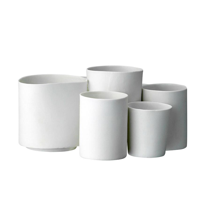 Porta velas em cerâmica, branco