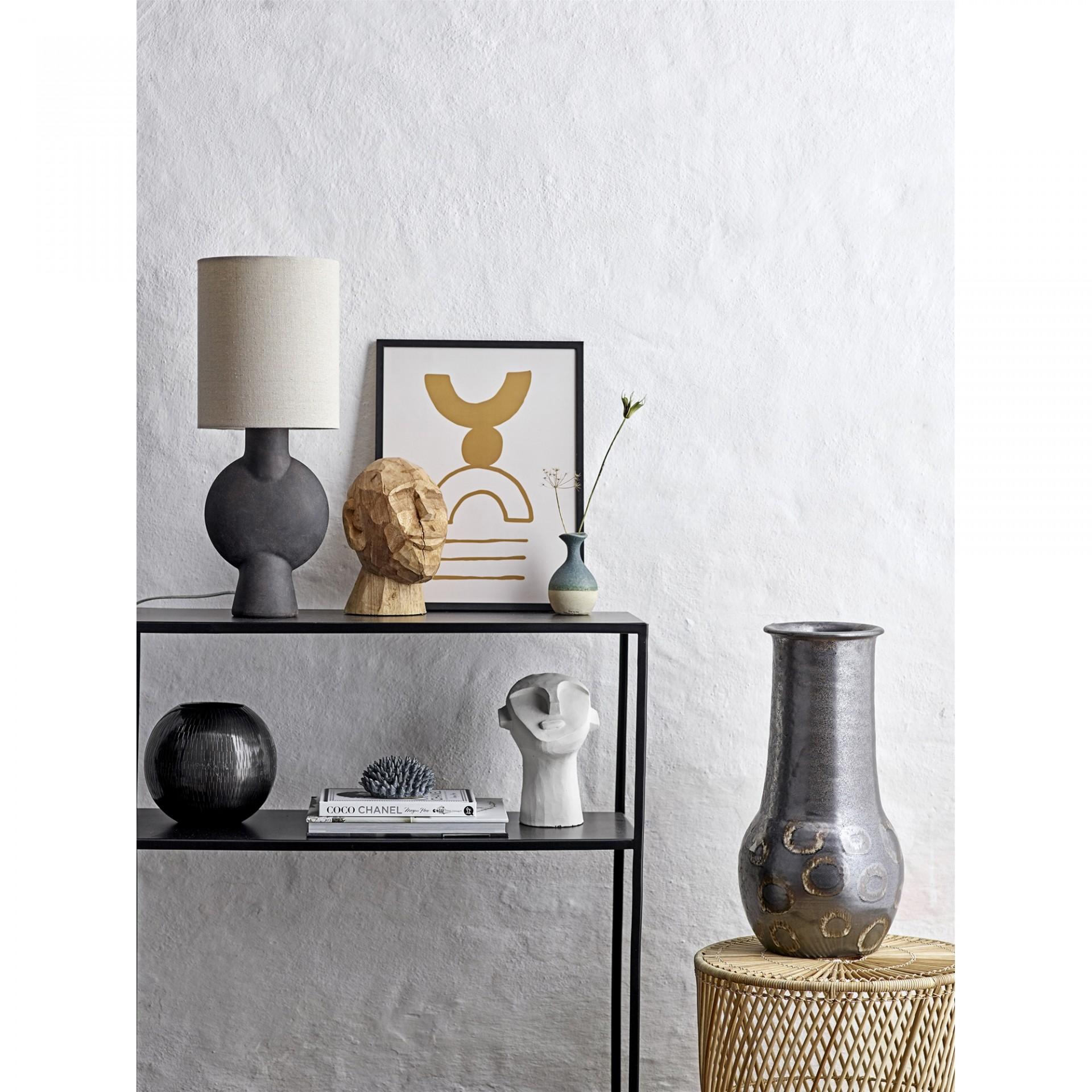 Mesa de apoio Abeline, rattan/abacá natural, Ø40x44