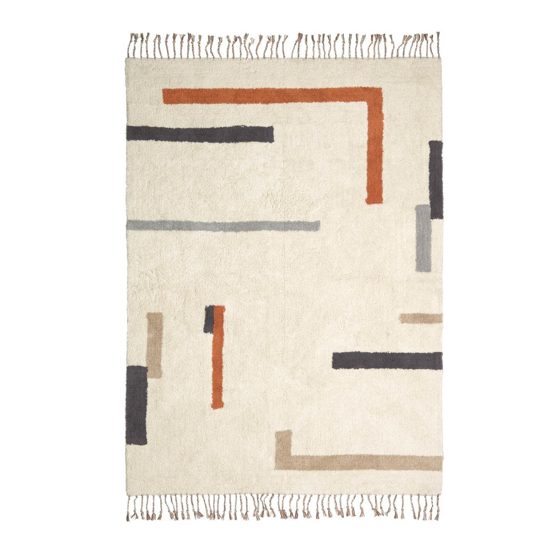 Tapete Bahia, algodão, multicolor, 200x140