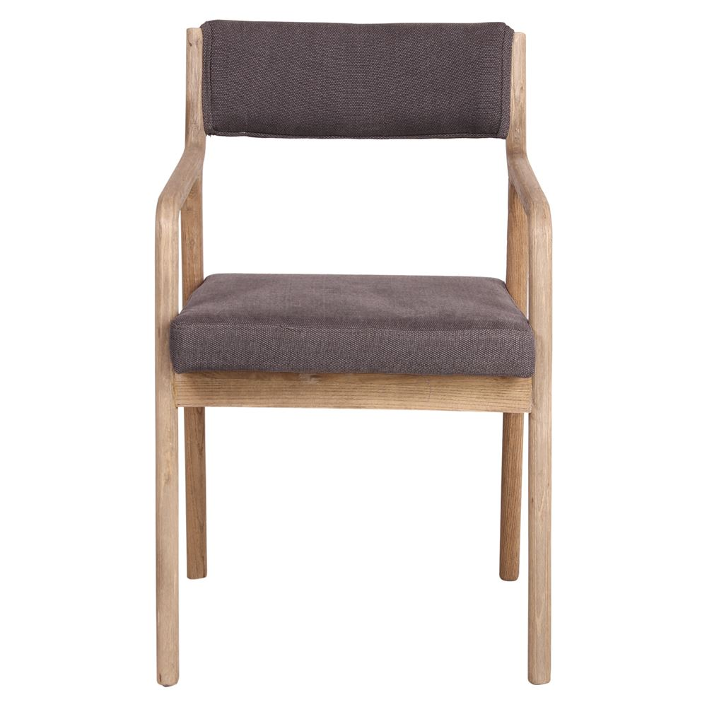 Cadeira Montella, estofada, madeira de olmo, 58x51x83