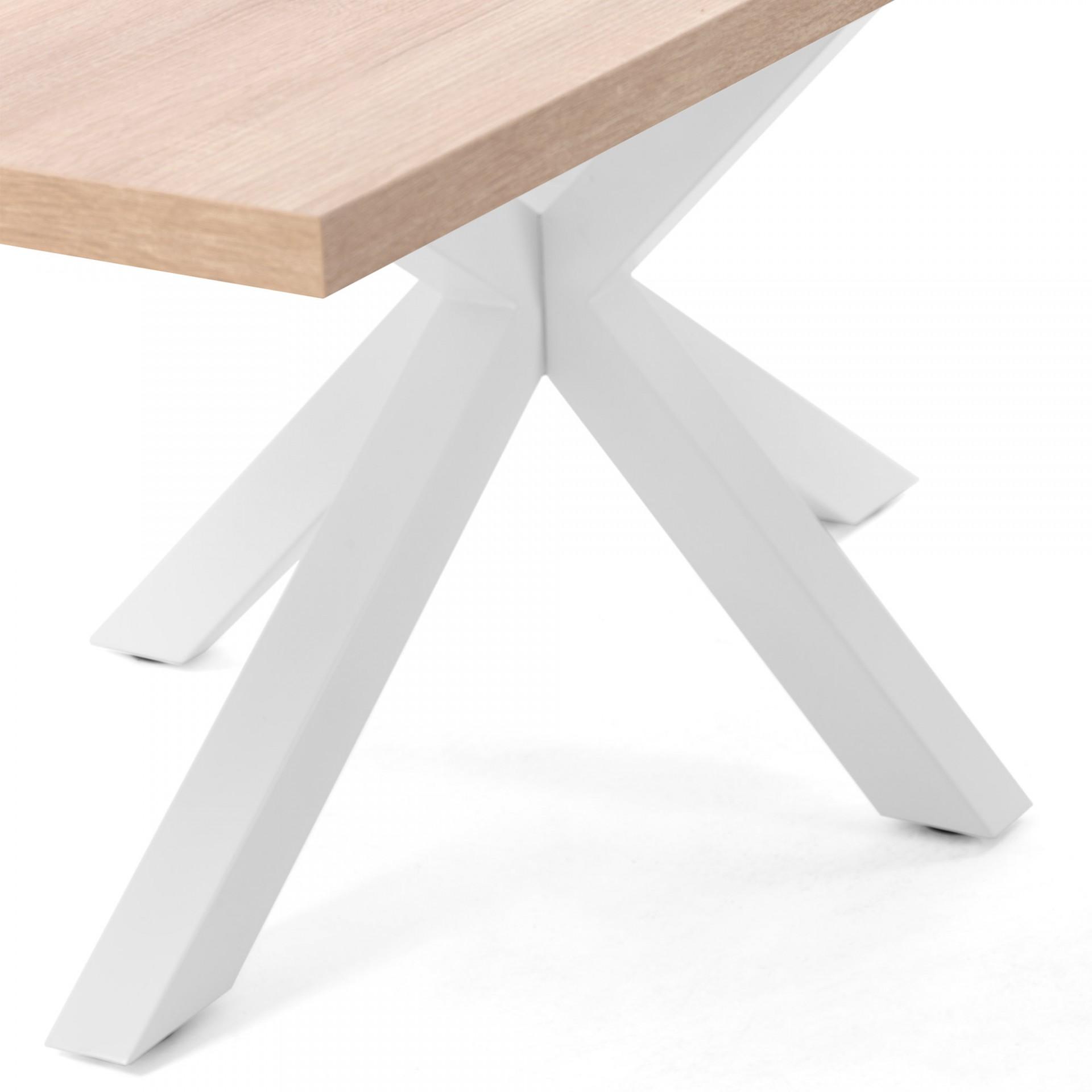Mesa de jantar Arge, melamina/metal