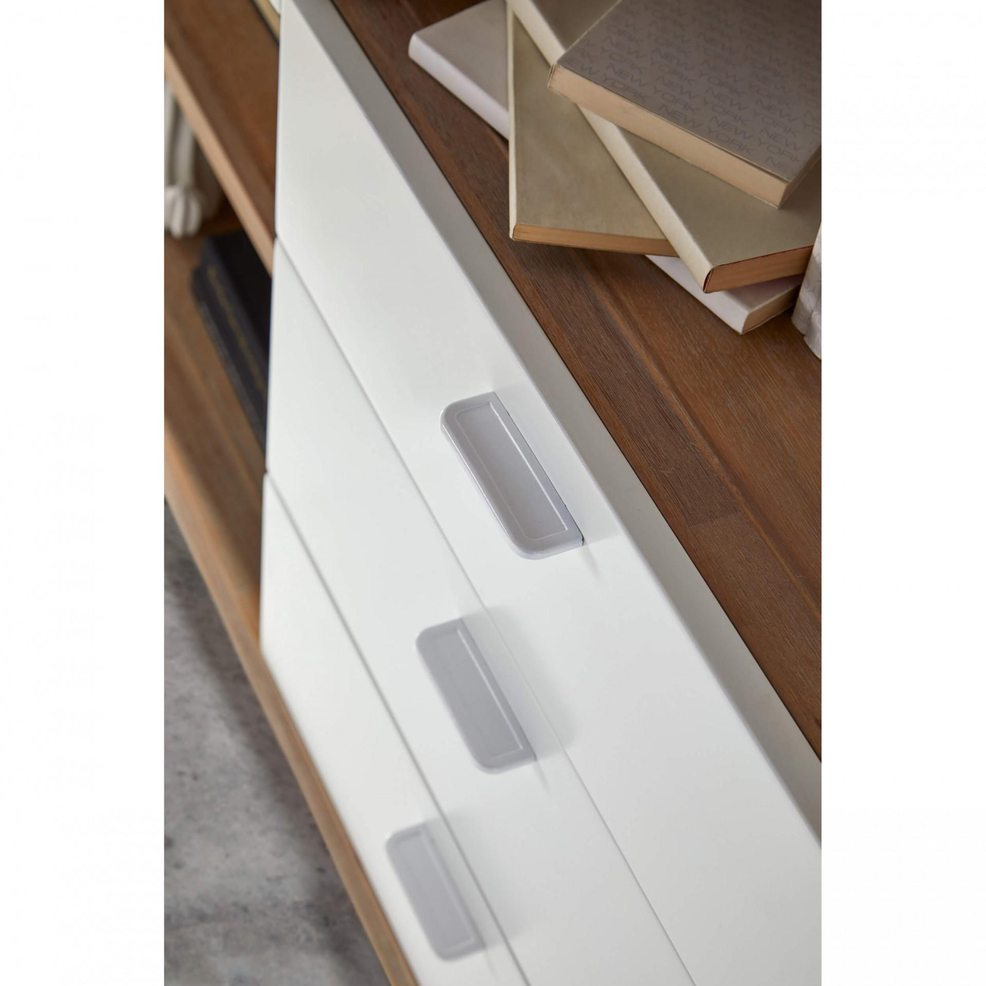 Estante Florence, madeira de acácia/MDF lacado, 120x140
