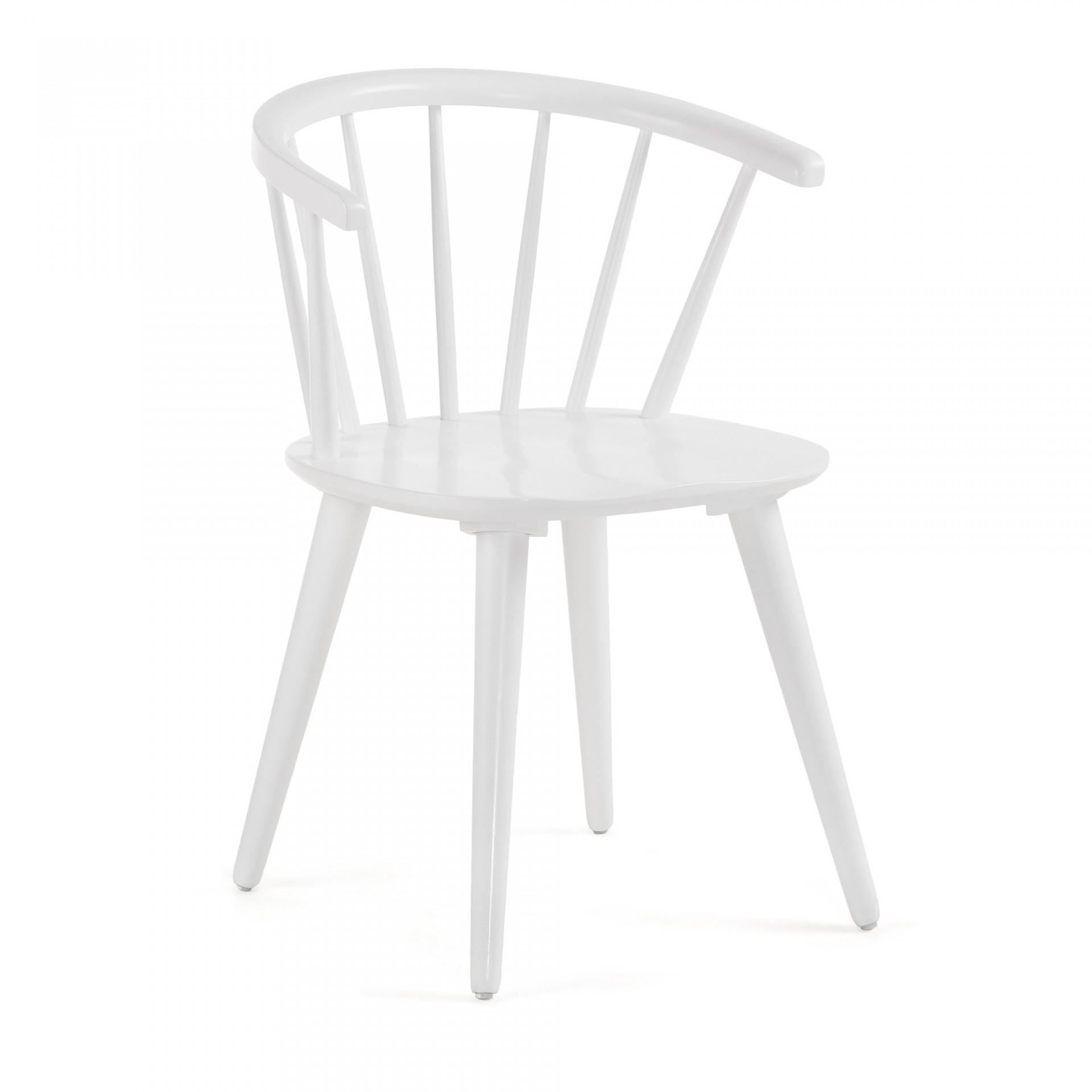 Cadeira Kris, madeira de seringueira, 35x37x77