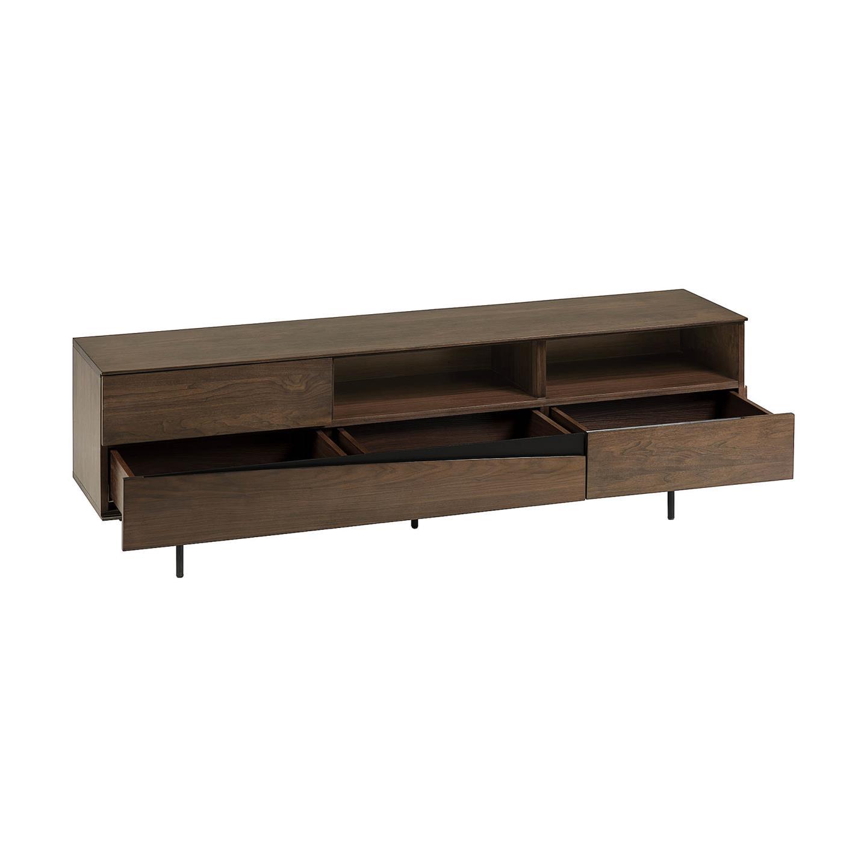 Móvel TV Cutte, madeira de nogueira/metal, 180x56