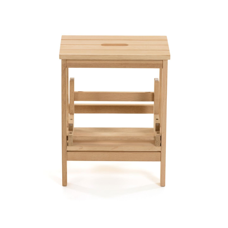 Banco de apoio Nelly, dobrável, madeira carvalho natural