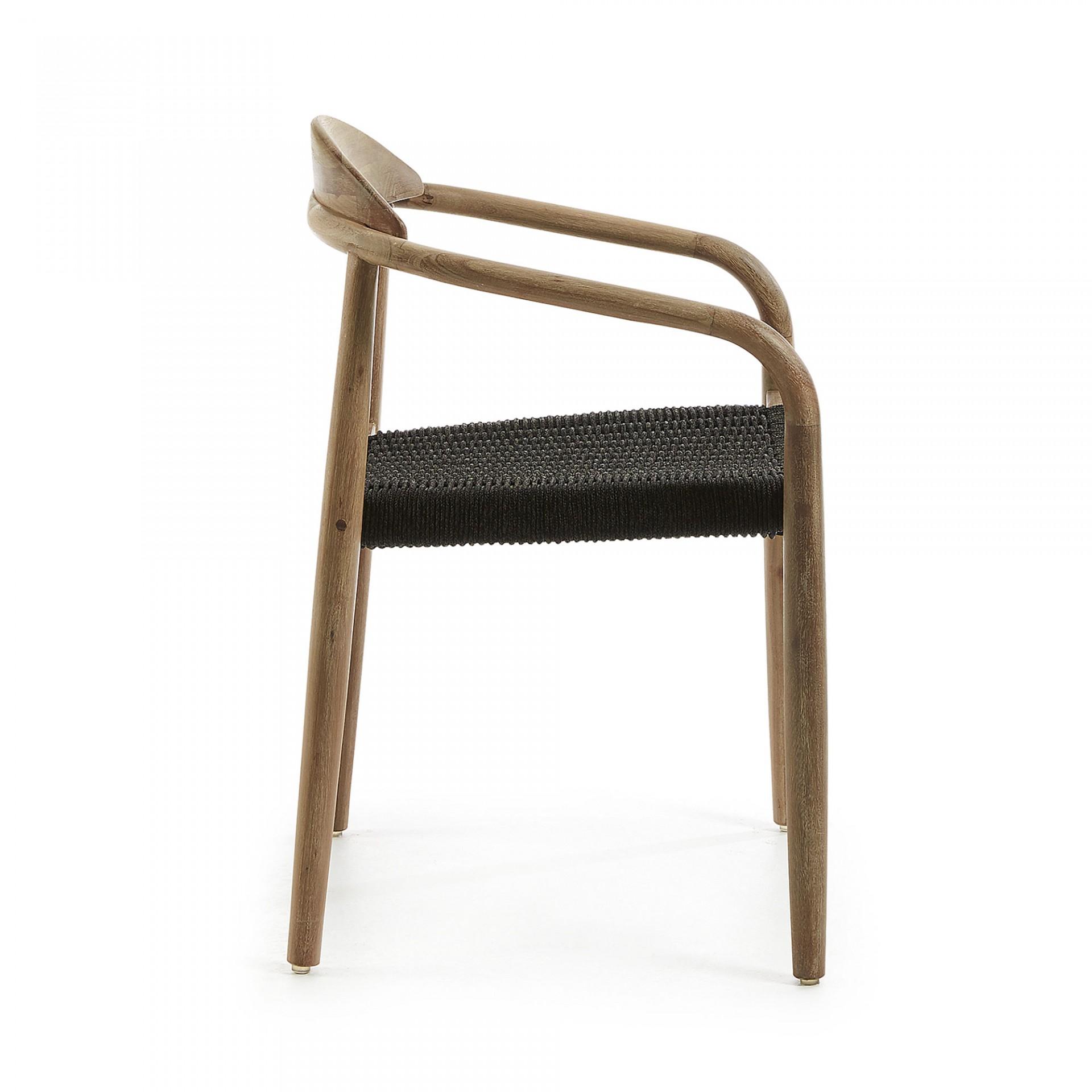 Cadeira Mina, madeira de eucalipto/corda poliéster
