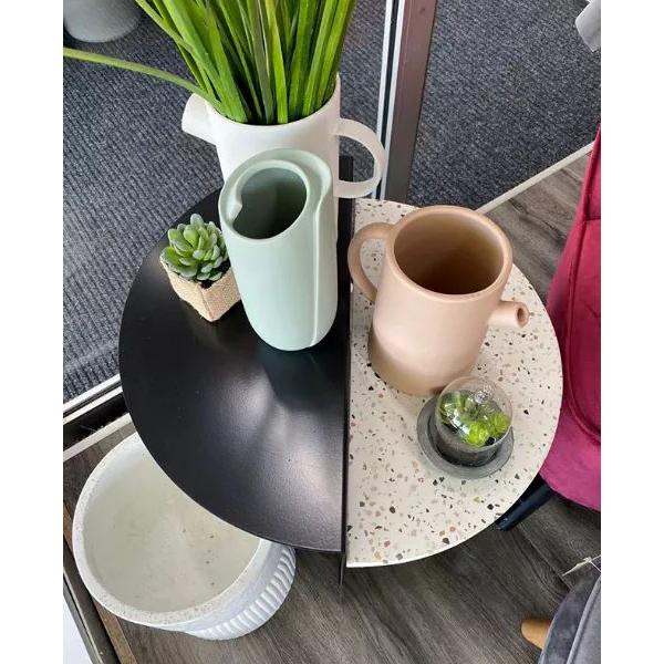 Jarra Hermi, cerâmica, rosa, Ø18x19