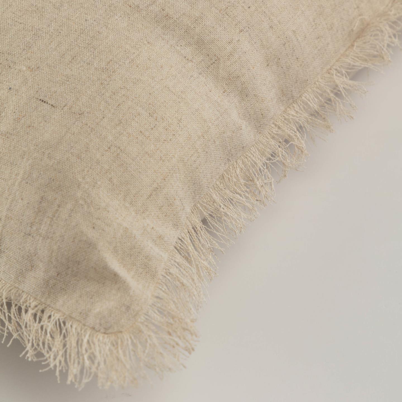 Capa de almofada Silina, c/franjas, bege, 45x45