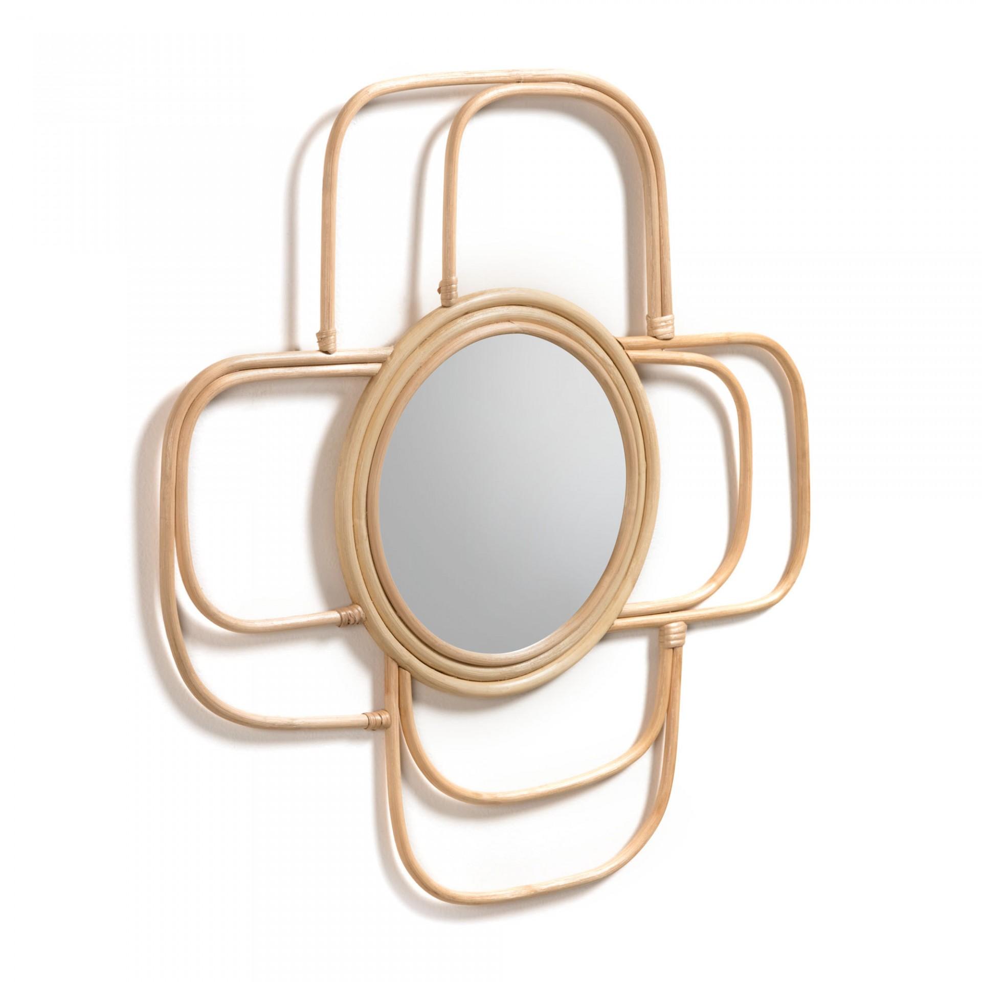 Espelho Meve, vime natural, 62X62