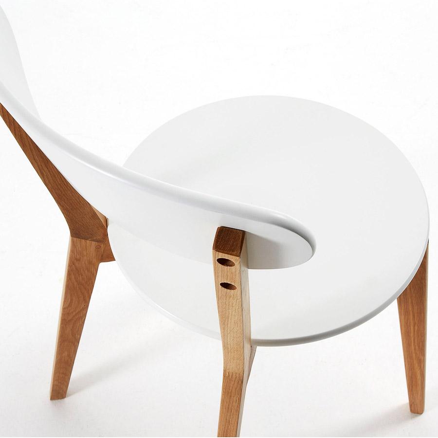 Cadeira Arie, madeira de carvalho/MDF lacado