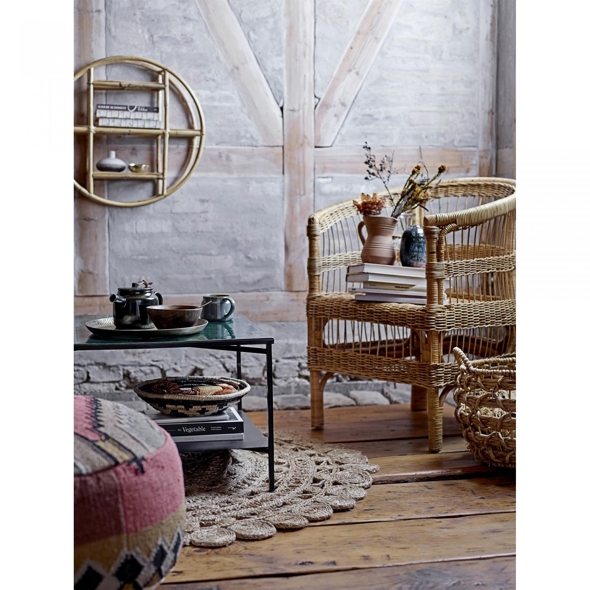 Estante de parede Sia, cana de bambu, Ø52cm