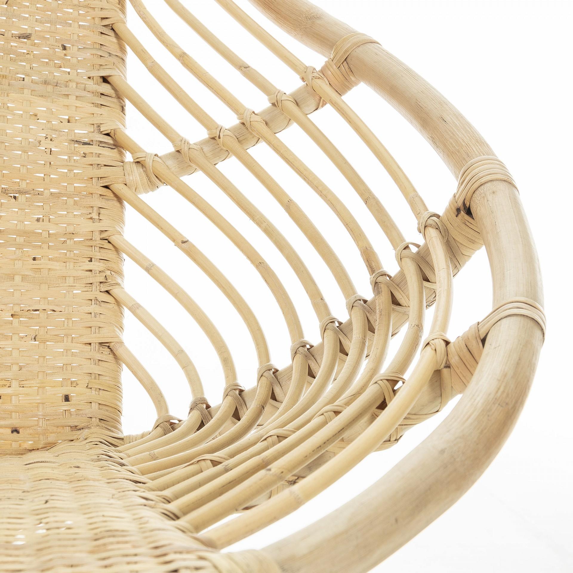 Cadeira Leaf, vime natural