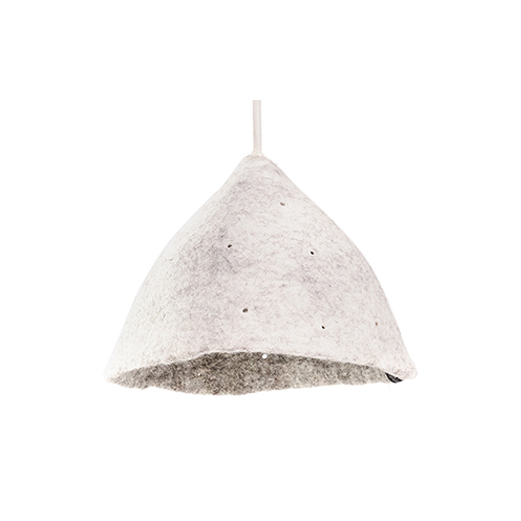 Candeeiro de tecto reversível, lã de feltro, mármore, Ø22x16