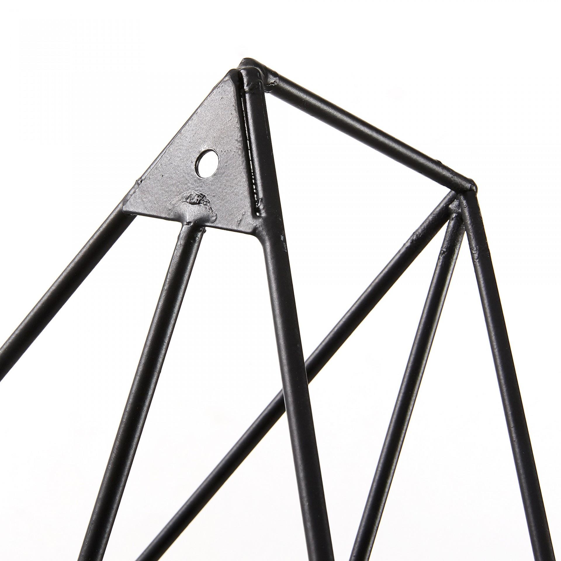 Estante de parede Nilis, metal, preto, 69x60