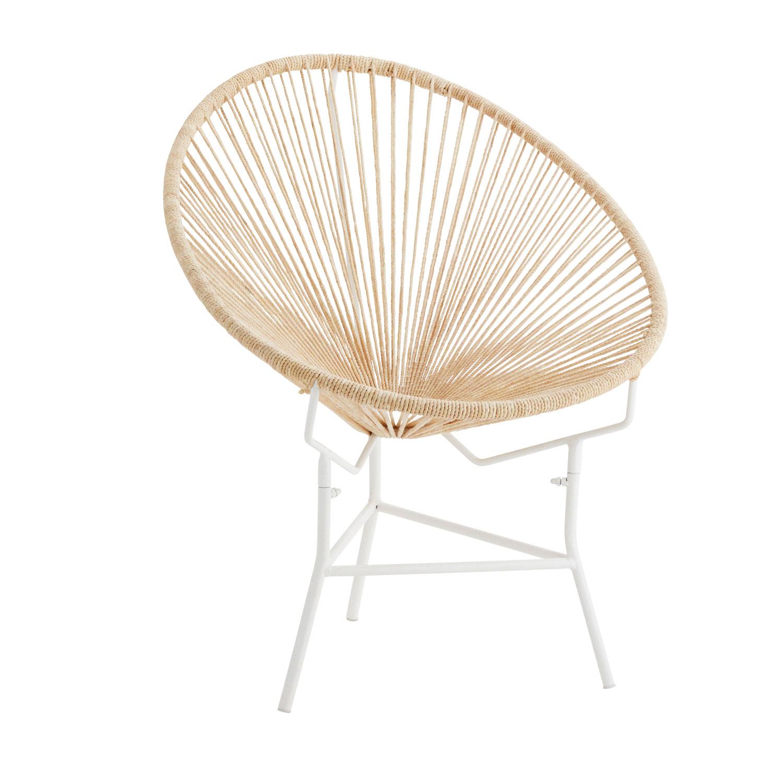 Cadeira Olivia em corda de algodão