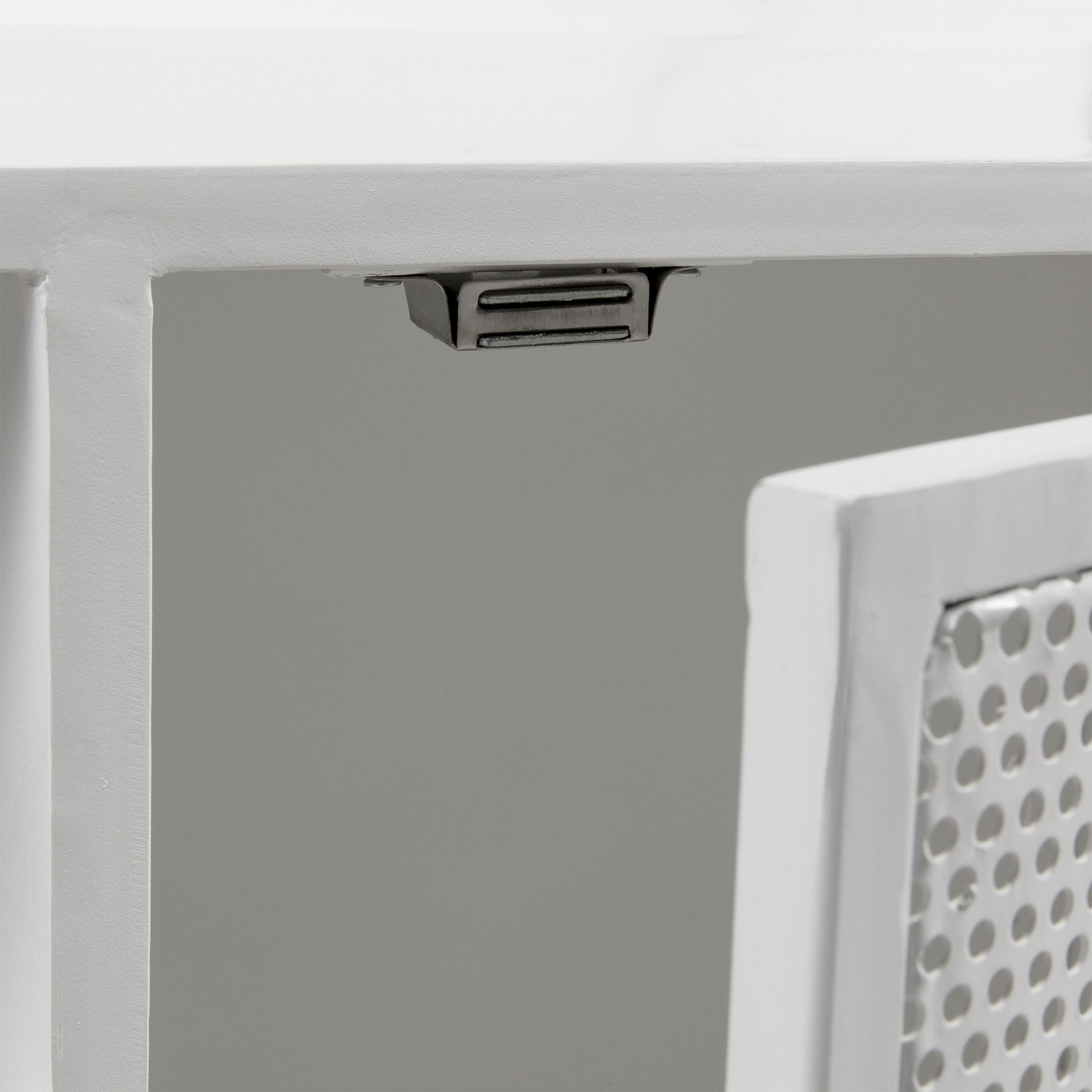 Móvel TV Rito, metal, branco, 140x63