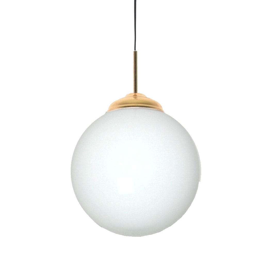 Candeeiro de tecto Opal, vidro opaco, branco, Ø30cm