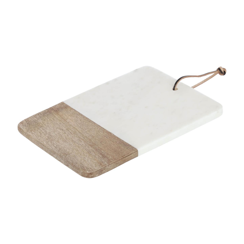 Tábua de cozinha Danel, madeira/mármore, 30x20cm
