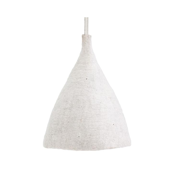 Candeeiro de tecto reversível, lã de feltro, mármore, Ø27x40