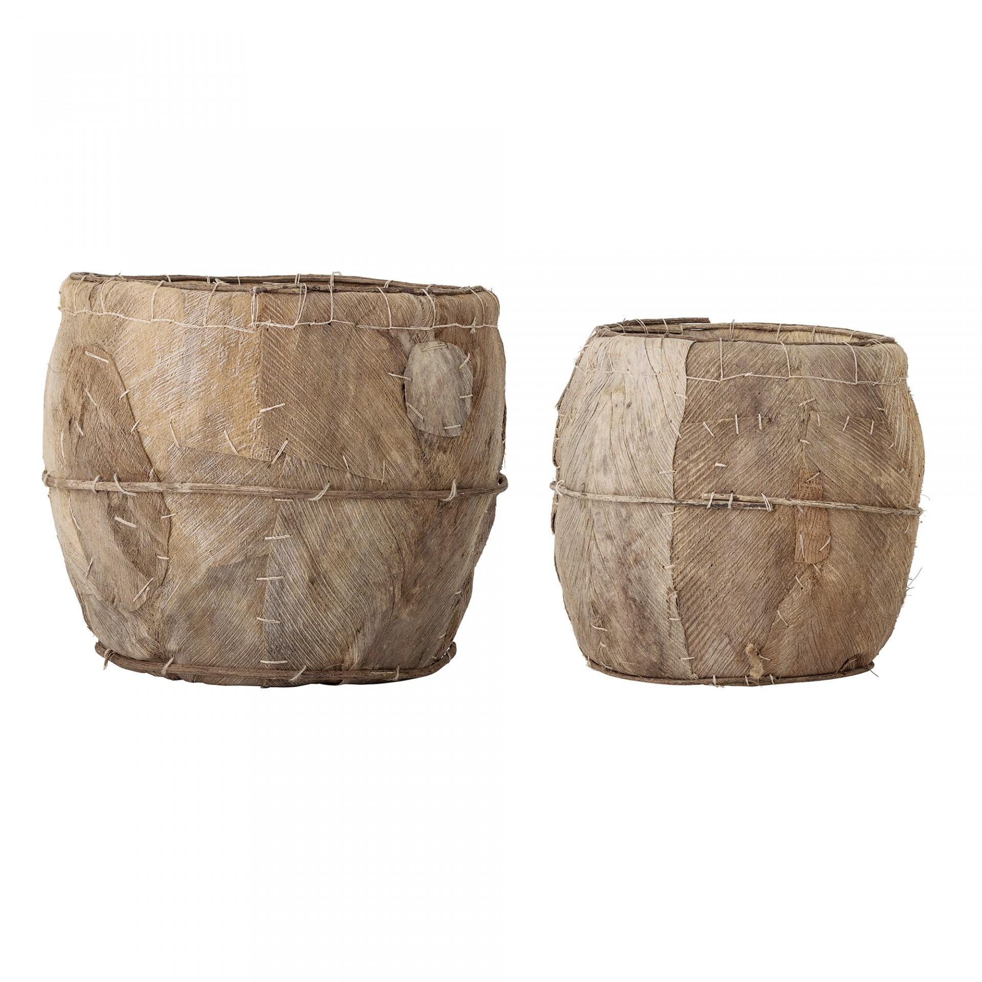Cestas Brown, folha de palmeira, (Conj.2)