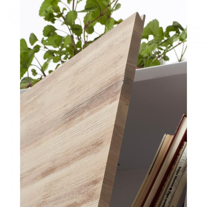 Estante Emmi, madeira de freixo/MDF lacado, 104x152