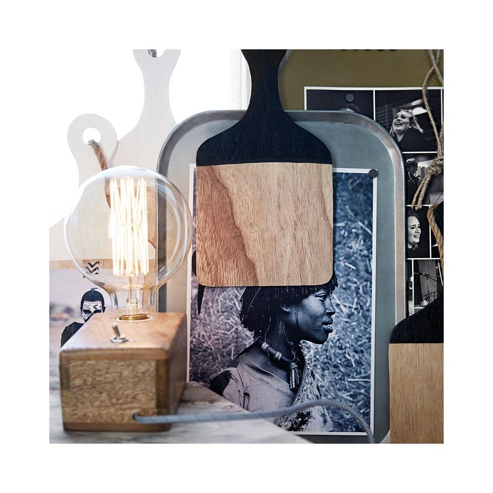 Candeeiro de mesa Smalli, madeira manga, 18x9