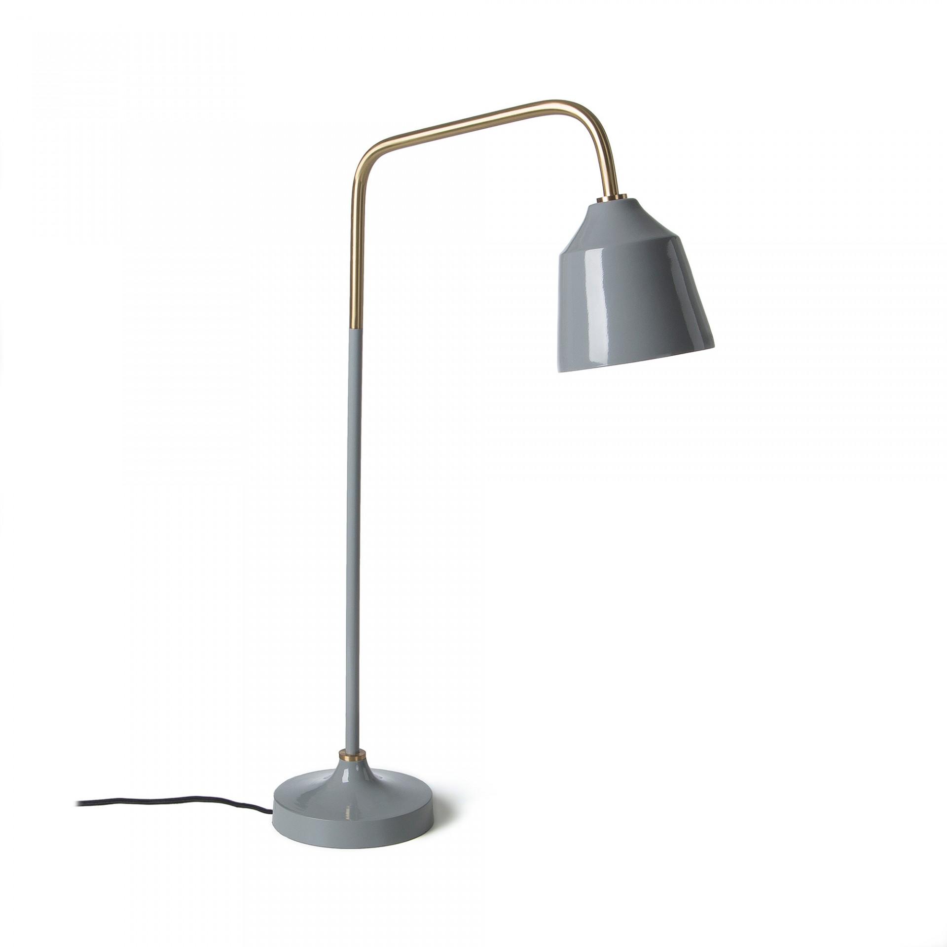 Candeeiro de mesa Post, metal, cinza/dourado