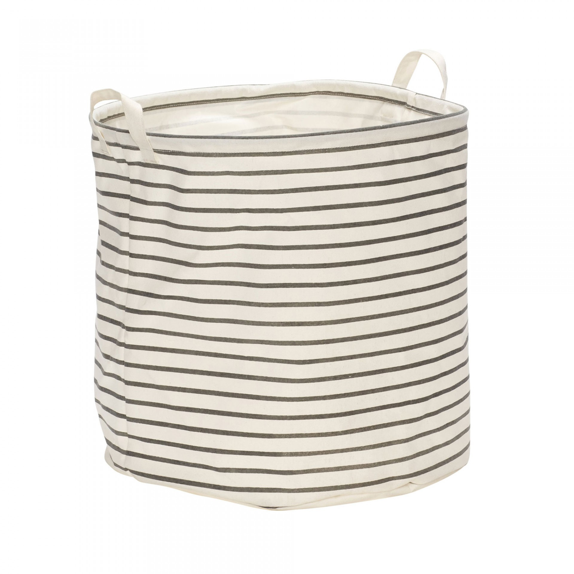 Cesto de roupa c/alças, branco/cinza, Ø40x40