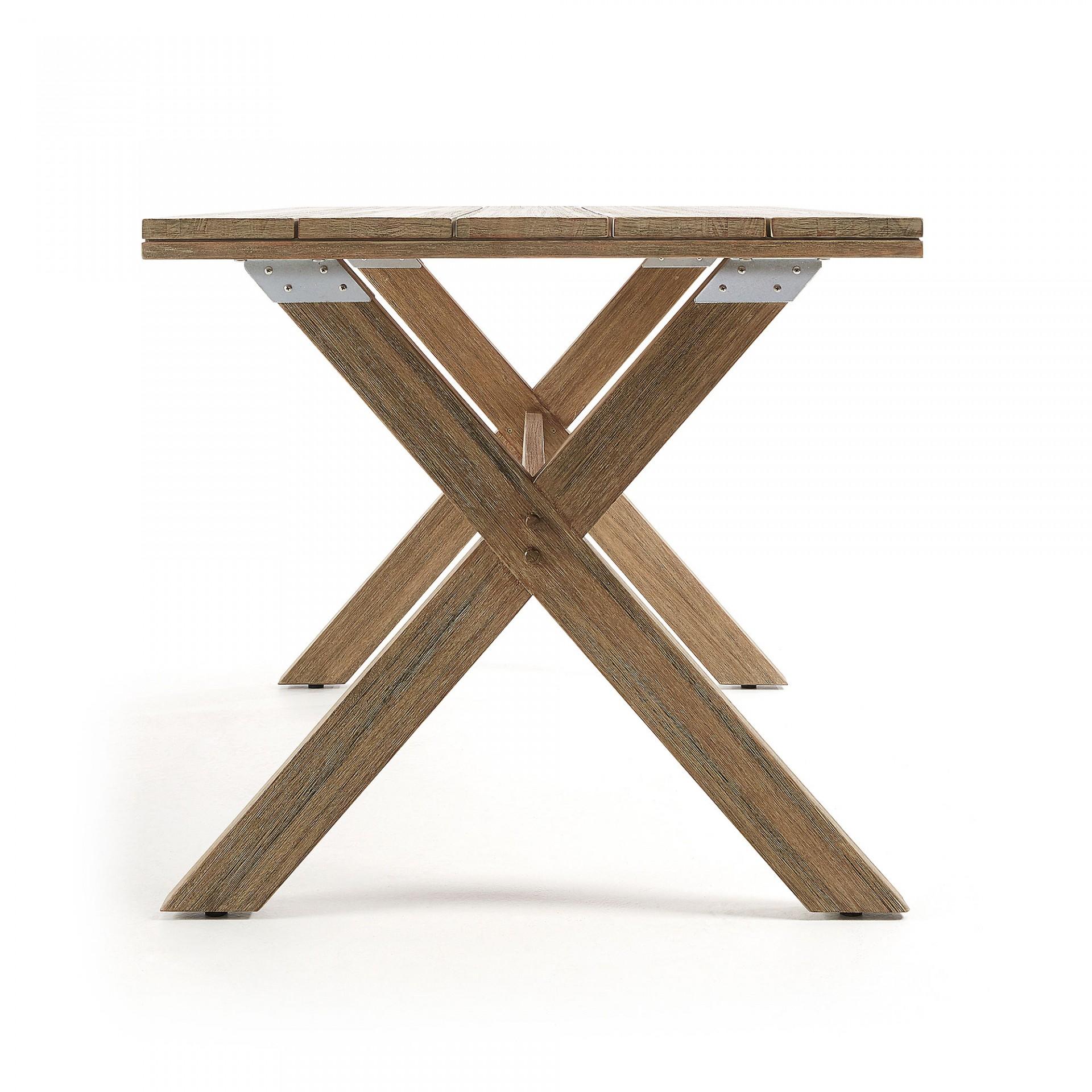 Mesa de jantar Kiara, madeira de eucalipto