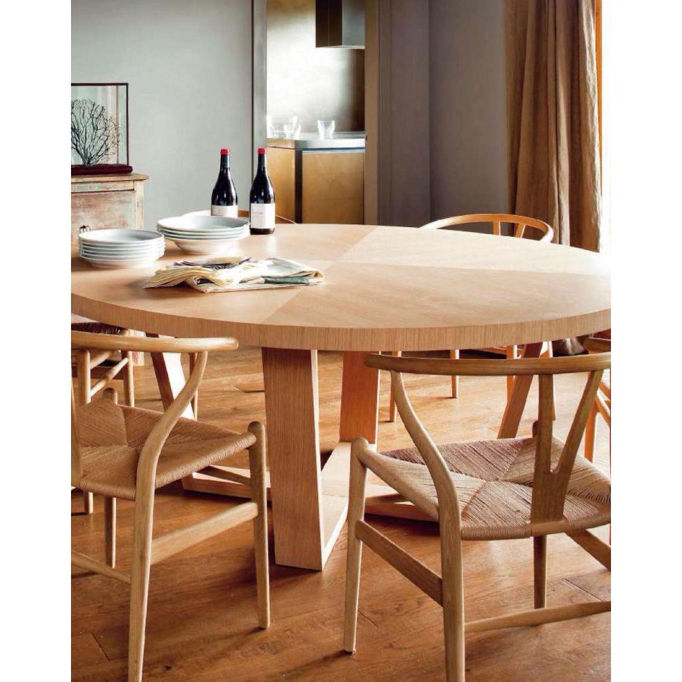 Cadeira Wishbone, madeira de carvalho