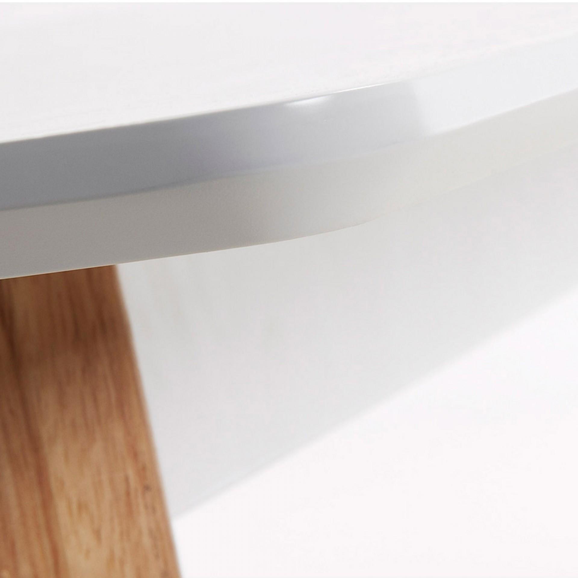 Mesa de jantar Melon, madeira de carvalho/MDF lacado, 160x90