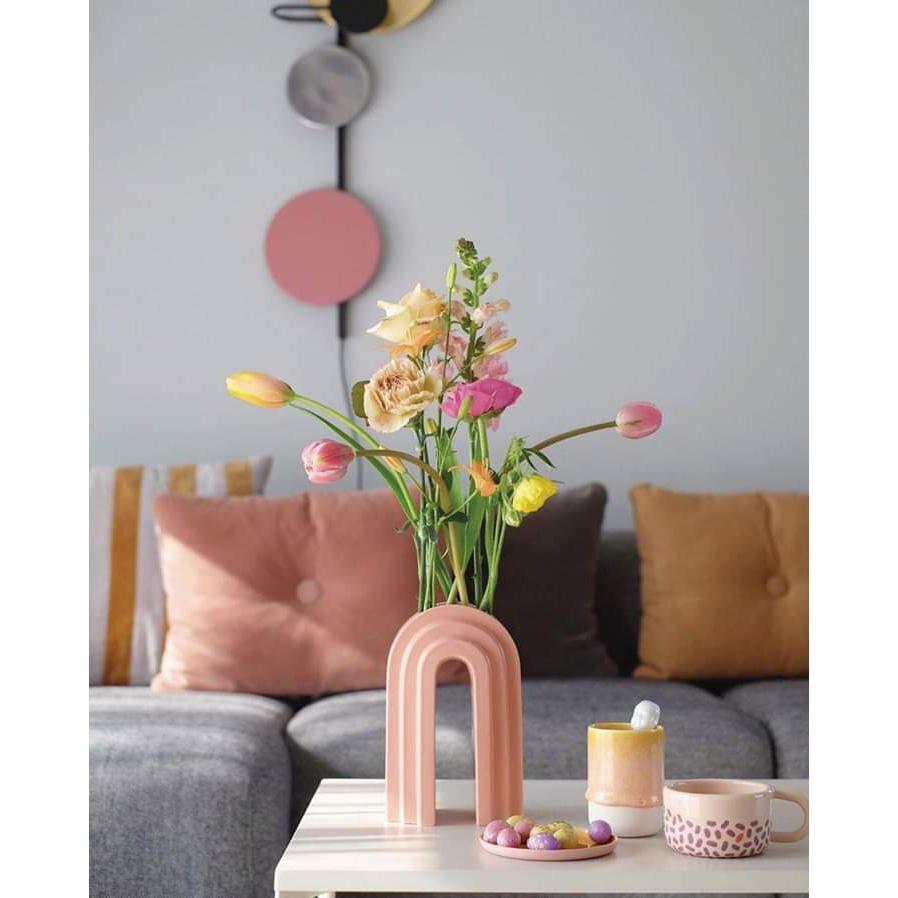 Jarra Any, dolomita, rosa, 14x10x21