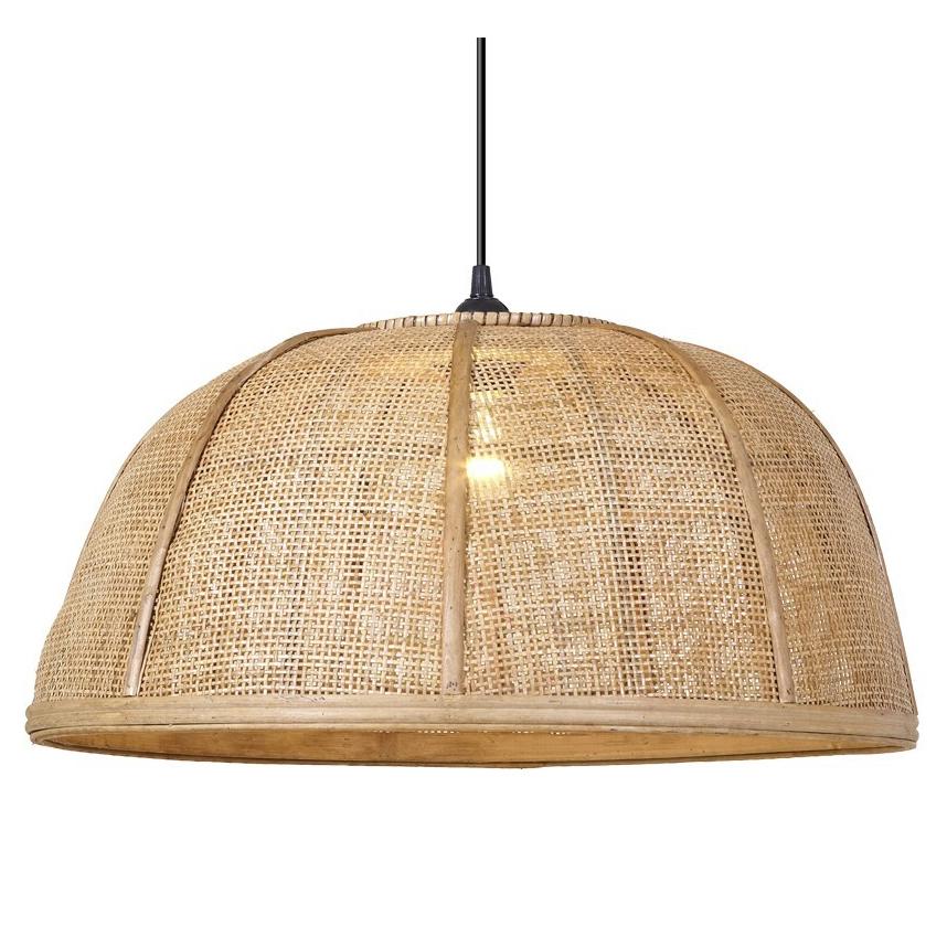 Candeeiro de tecto Nómada, bambu/rattan natural, Ø52x24
